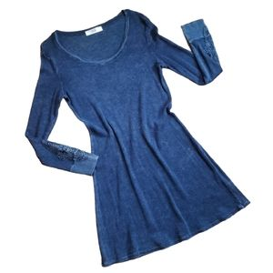 Able Dress Thermal Waffle Knit Crochet